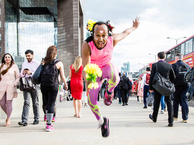 Meet the 'Disco Bunny' spreading positive vibes by dancing in London's streets