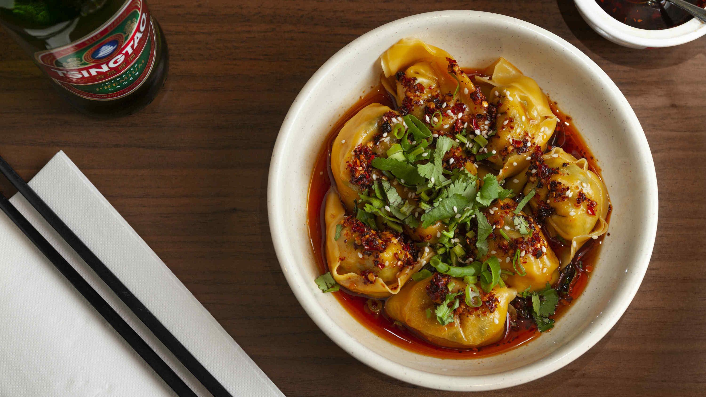 Spicy won ton at China Red