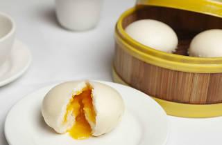 Golden lava bun at Secret Kitchen
