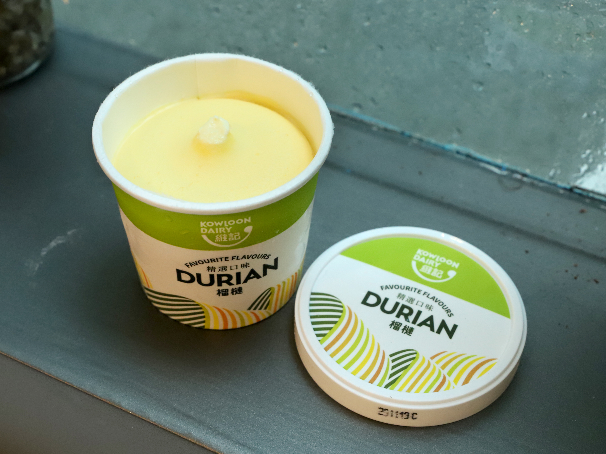 Kowloon Dairy Durian ice cream