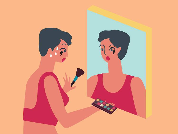 Melting makeup