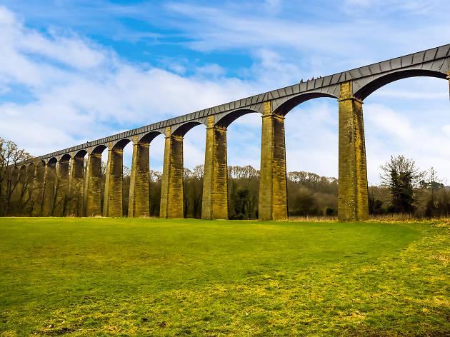 Pontcysyllte Aqueduct, Wrexham, for Virgin Trains weird weekend feature.