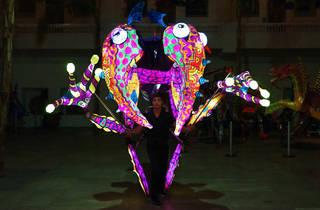 Alebrijes iluminados (Foto: Cortesía Museo de Arte Popular)