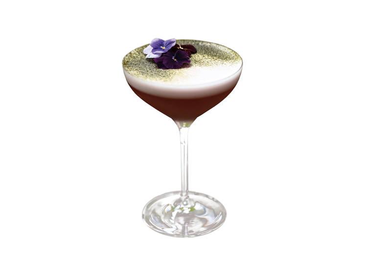 Gin sour de framboesa e matcha (10€)