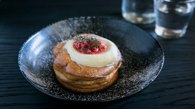 fluffy pancake at Edition Coffee Roasters