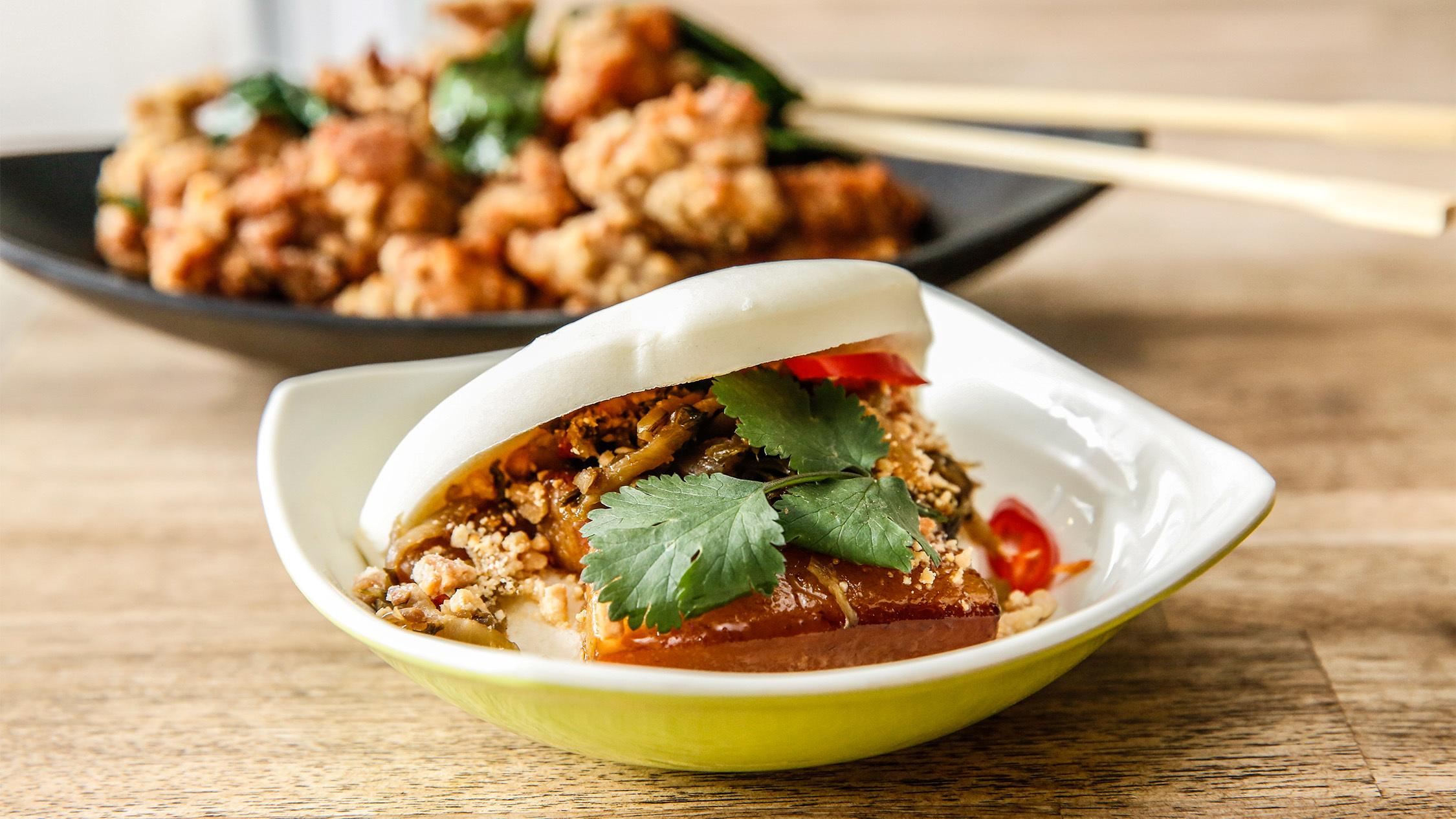 Pork belly gwa bao at Bao Dao