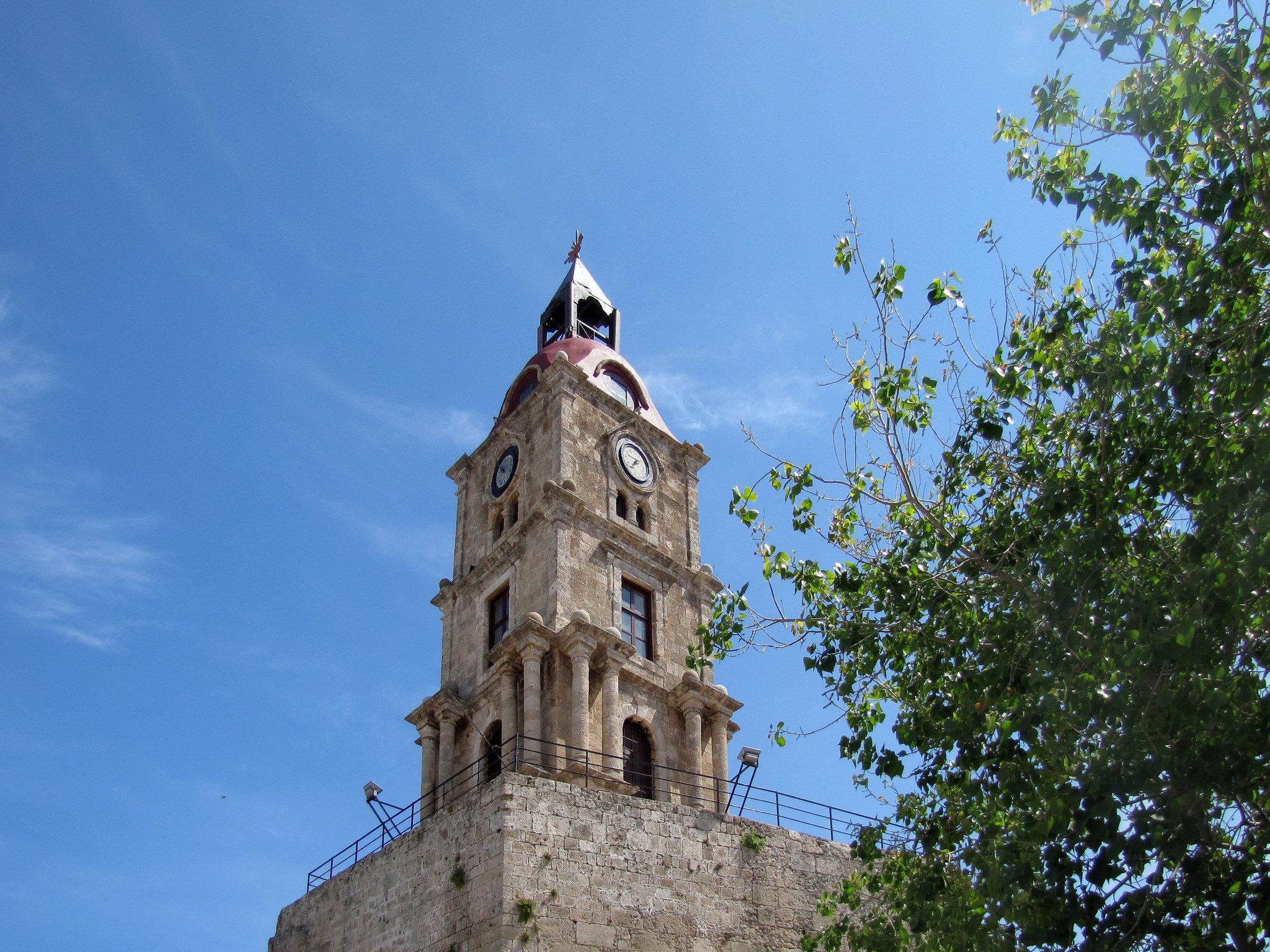 Medieval Clock Tower Rhodes
