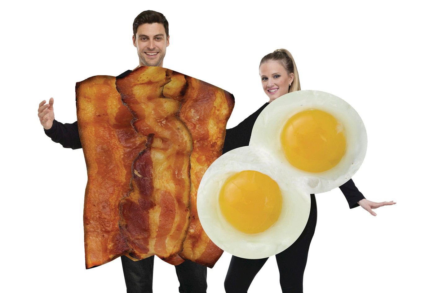 bacon and eggs couples' costume for halloween