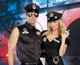 police costume for couples for halloween