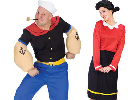 popeye and olive oyl costumes for halloween