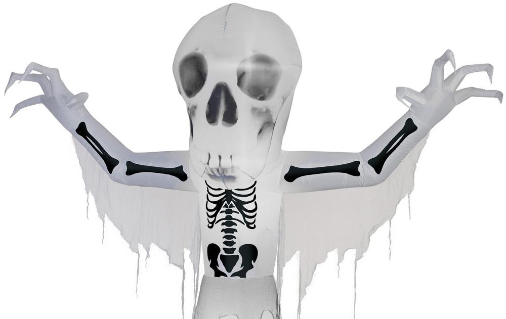 skeleton inflatable halloween decoration
