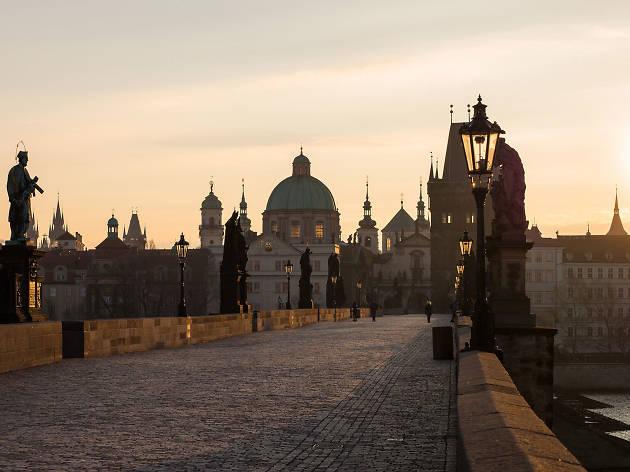 Sunrise at Charles Bridge - Prague - Czech Republic