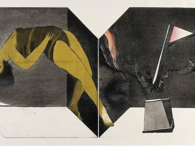 (George Baldessin 'Performance (Variation 2)' 1971, © The Estate of George Baldessin)