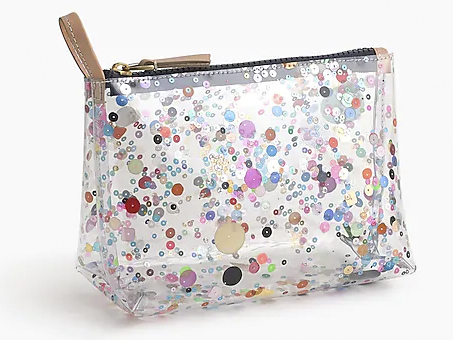 Best toiletry bags 11 Glitter pouch from J Crew