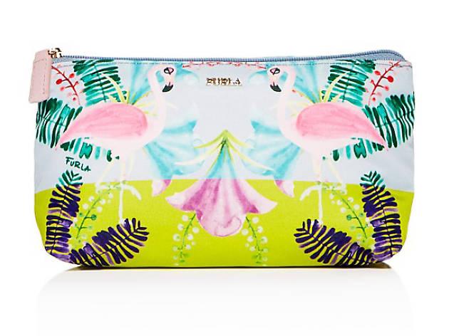 furla flamingo pouch