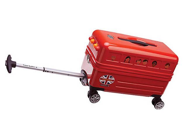 double decker bus suitcase