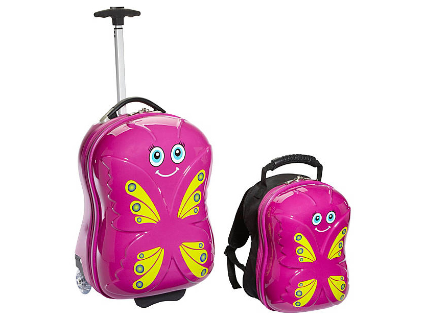 butterfly kids luggage