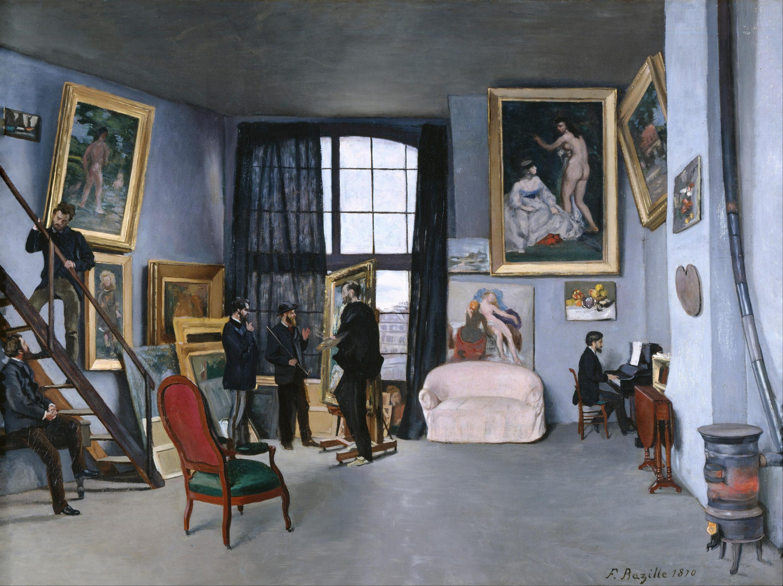 Frédéric Bazille, Studio in Rue de La Condamine, 1870