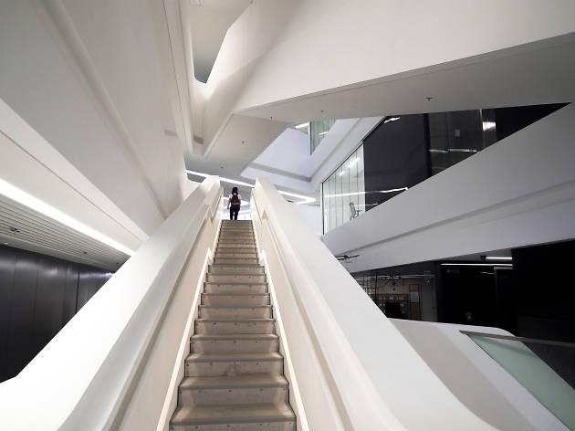 Jockey Club Innovation Tower stairs