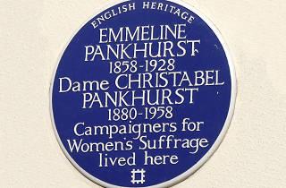 Emmeline and Christabel Pankhurst blue plaque