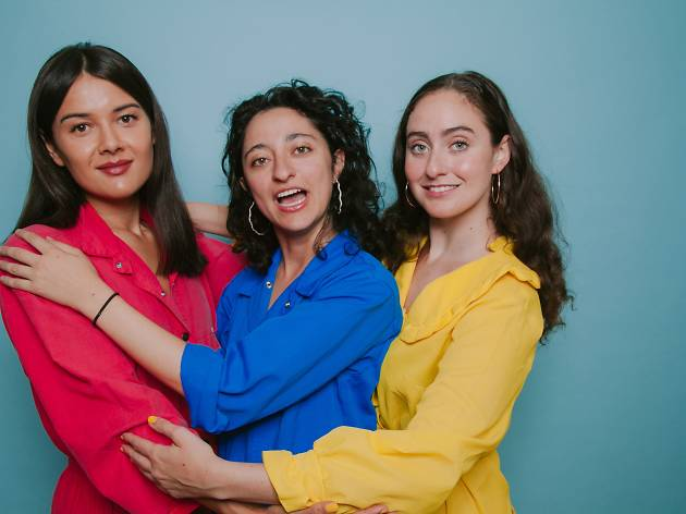 Patti Harrison, Mitra Jouhari and Catherine Cohen