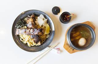 Tsukemen ramen at Okiboru in Chinatown
