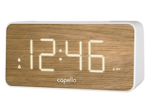 7 Best alarm clocks wood effect target