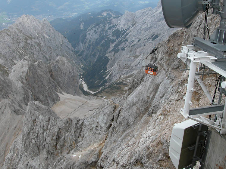 Take the cable car up the Zugspitze