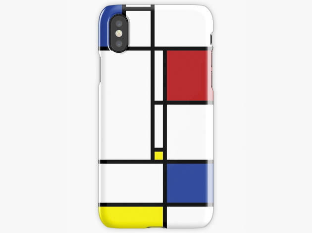 9 iphone cases redbubble mondrian
