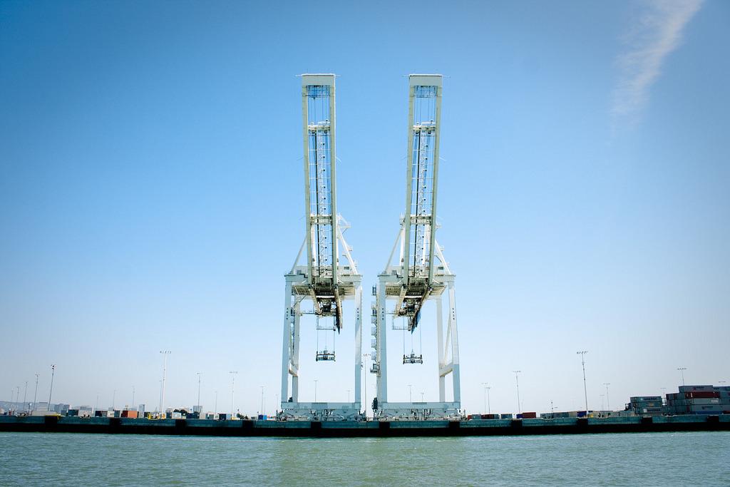 Oakland Docks Cranes