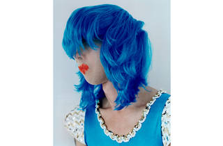 (Polly Borland 'Untitled (Nick Cave in a blue wig)' 2010, © Polly Borland and Murray White Room)
