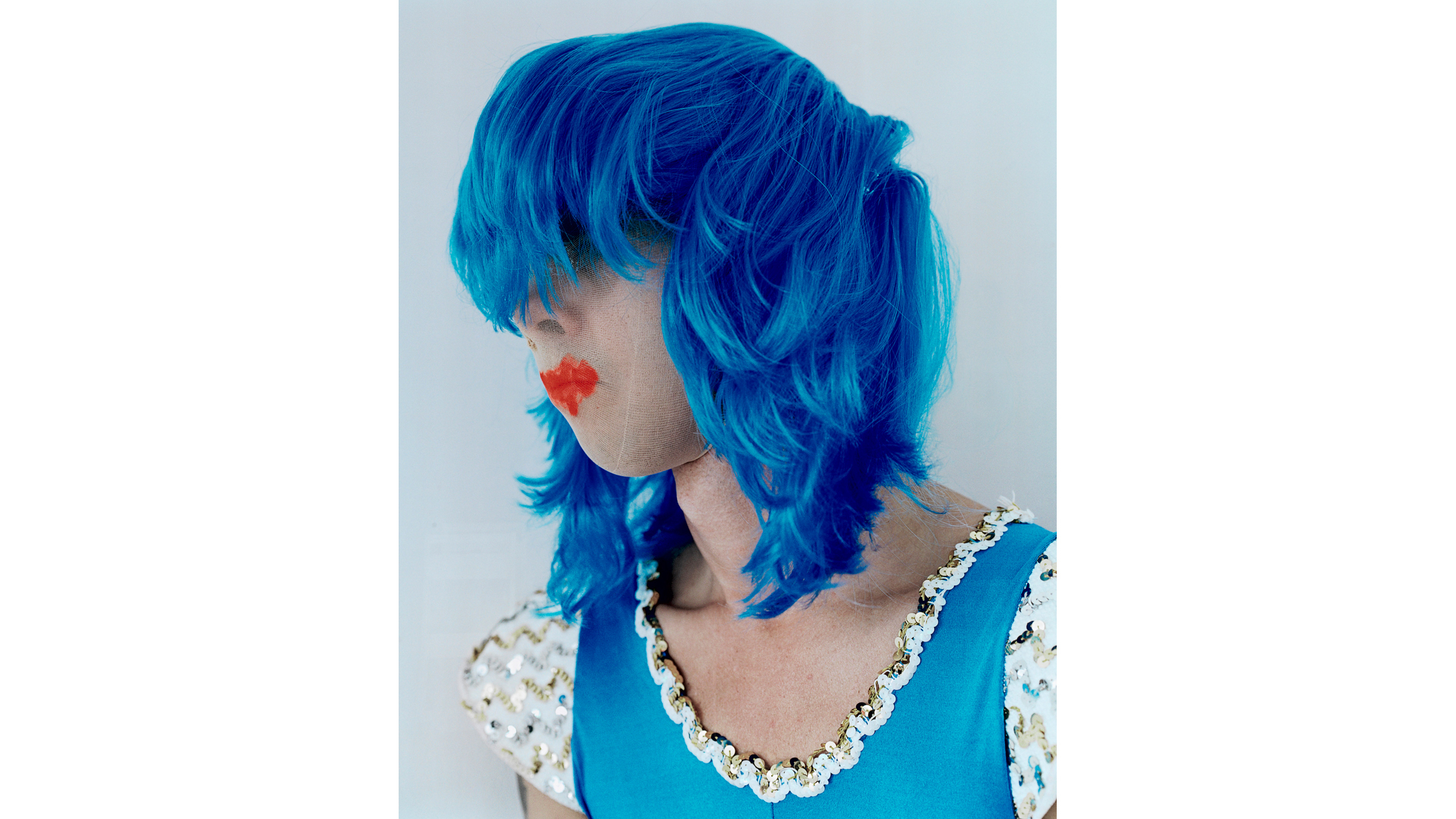 Polly Borland 'Untitled (Nick Cave in a blue wig)' 2010, © Polly Borland and Murray White Room