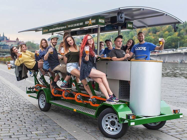 Prague 90-Minute Beer Bike Tour