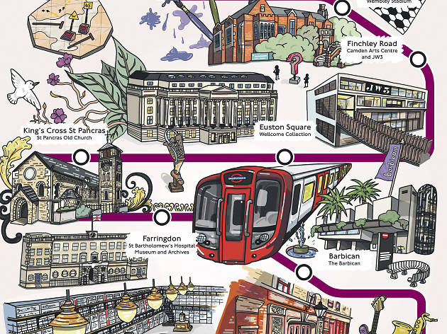 Out and about on the Metropolitan line