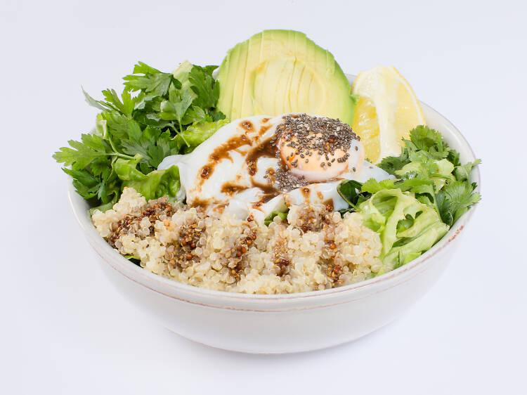 Quatro sítios para comer salada de quinoa