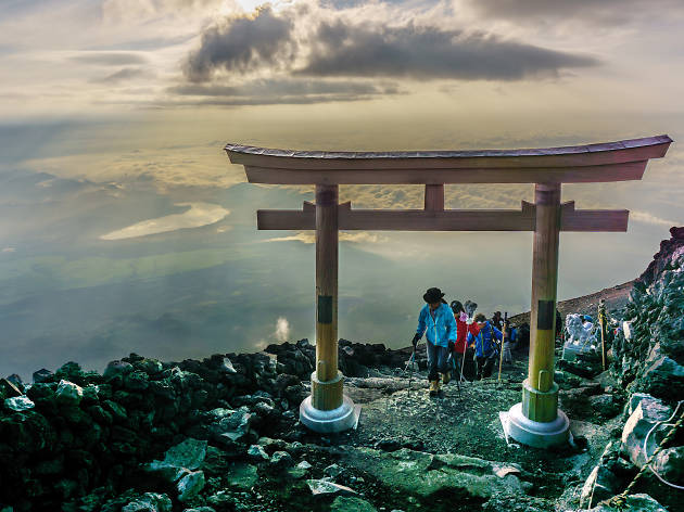 Mt Fuji peak summit