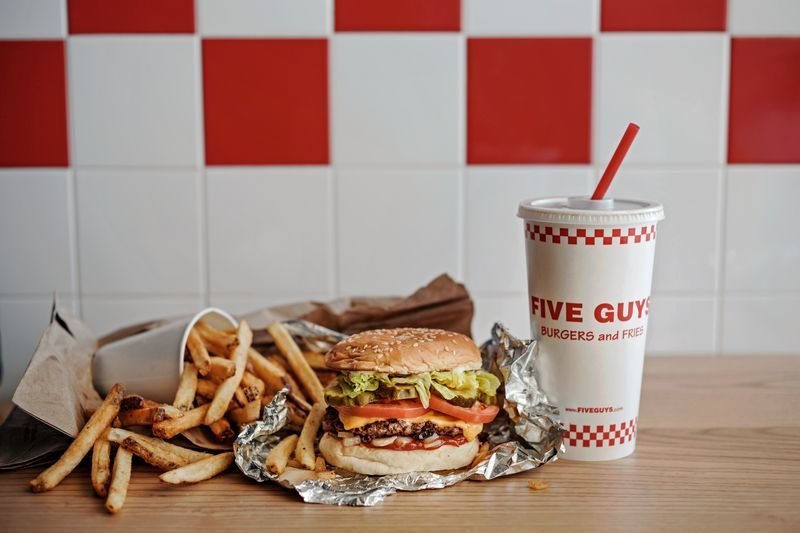 Five Guys cheeseburger