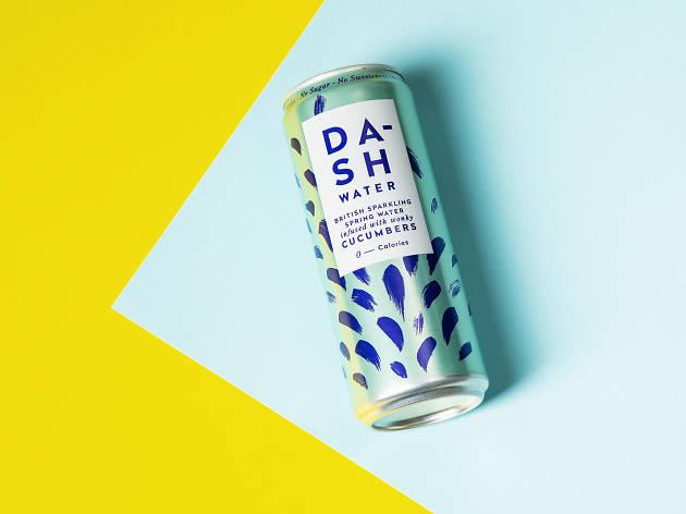 dash water, cucumbers, london's best tinnies