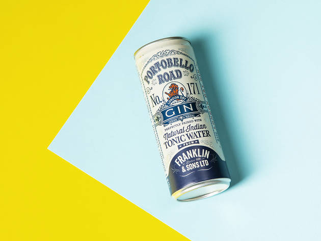 Portobello road gin and franklin & sons tonic, london's best tinnies