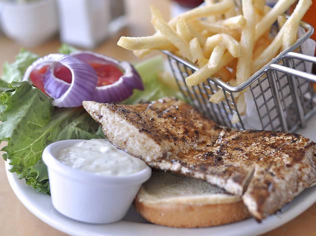 Islander Bar & Grill Mahi Sandwich Miami Airport