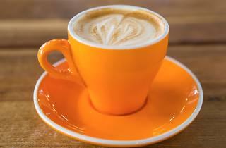 Generic flat white coffee