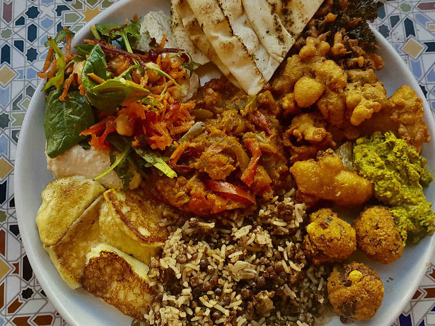 Middle of the East Plate at Alisha's Café Collective