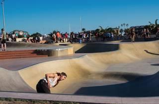 People doing ticks and stuff at St kilda skatepark