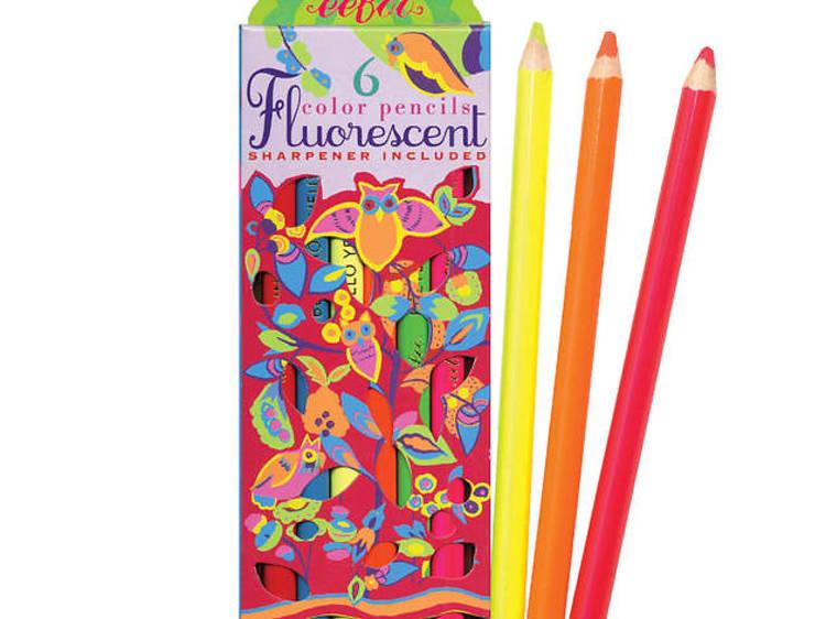 Ages 6–8: Owl fluorescent pencils