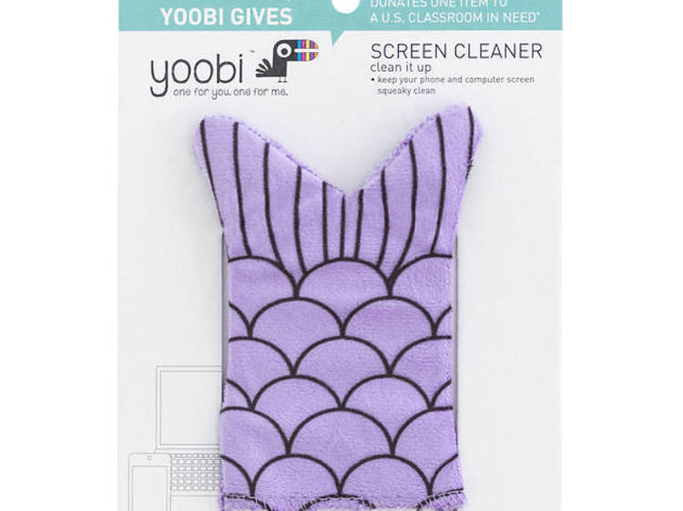 Ages 9–11: Mermaid-tail screen cleaner