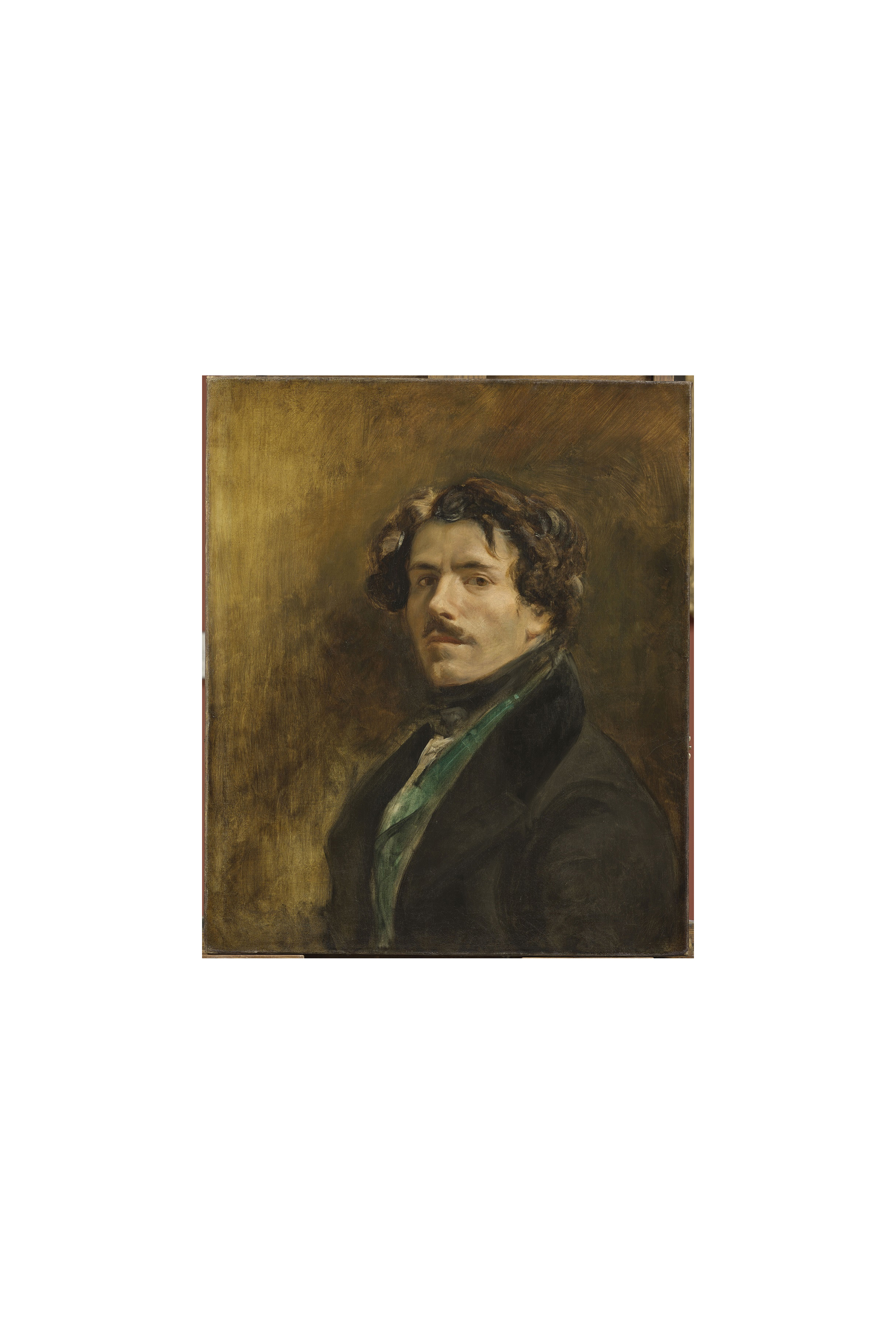 Eugène Delacroix, Self-Portrait with Green Vest, ca. 1837