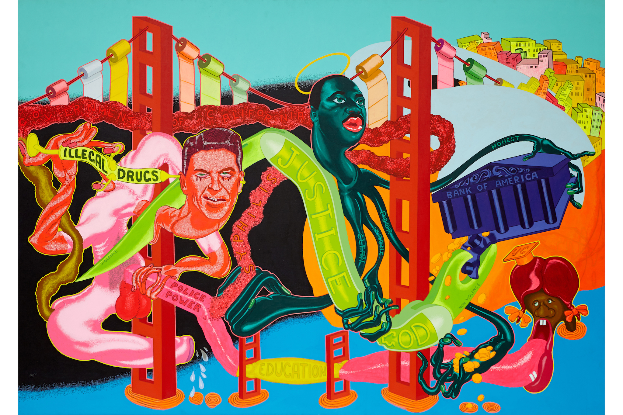 Peter Saul, Government of California, 1969