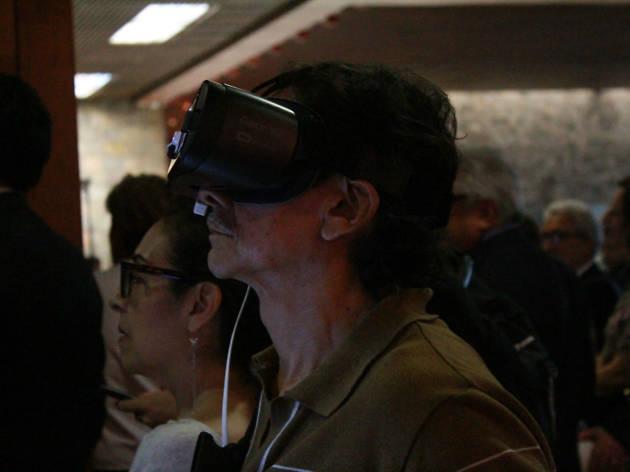 Realidad virtual en museo de antropología