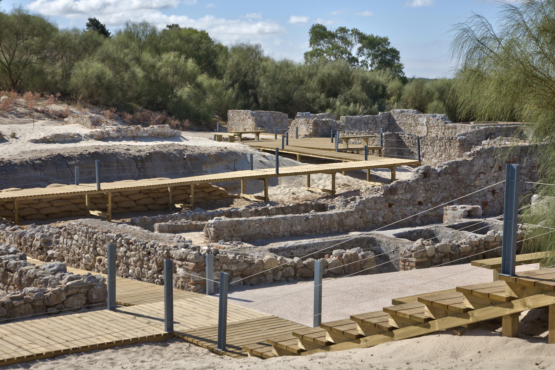Ruinas romanas de tróia