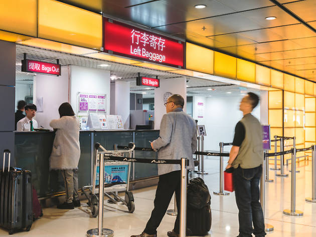 Hong Kong Airport baggage storage